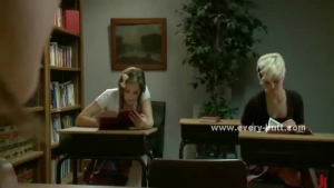 Slutty college babes fucked in class