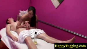 A masseur rubs client and fucks her