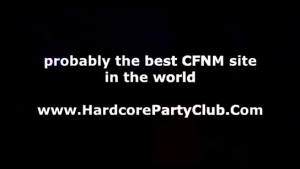 Naughty CFNM teens fucked in the club by their slim strippers